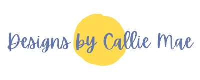 yellow dot with blue Designs by Callie Mae